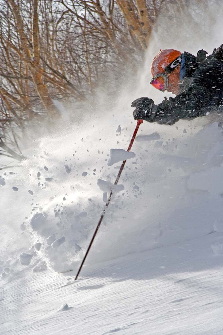 skiing in hakuba backcountry
