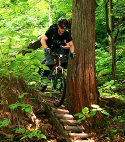 mountain biking in japan - MTB Downhill Bridge
