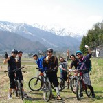 mountain biking in japan - MTB Freeride Group in the Alps