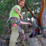 rock climbing in japan - top belay