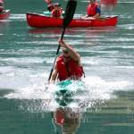 speed kayak on lake aokiko