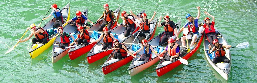 international school programs - downriver canoeing