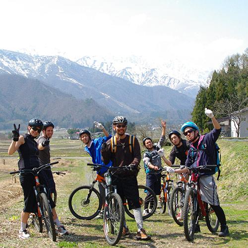 MTB Freeride Group in the Alps