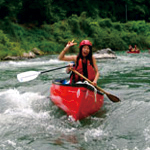 downriver canoe in nagano