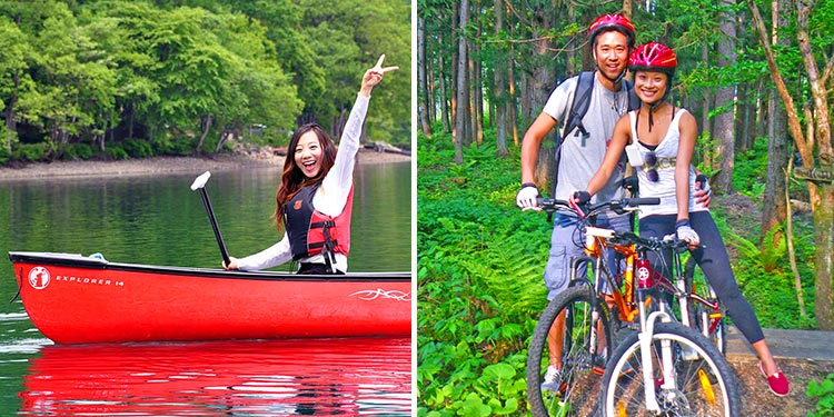 combo activities in japan - pedal & paddle