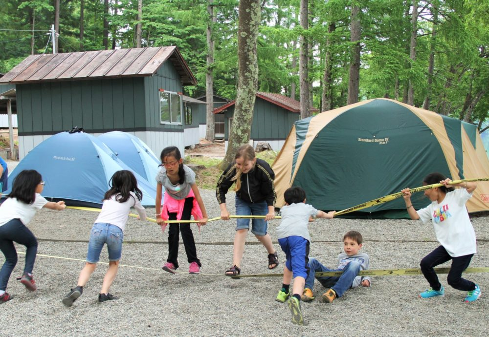 summer camp in japan - campfire