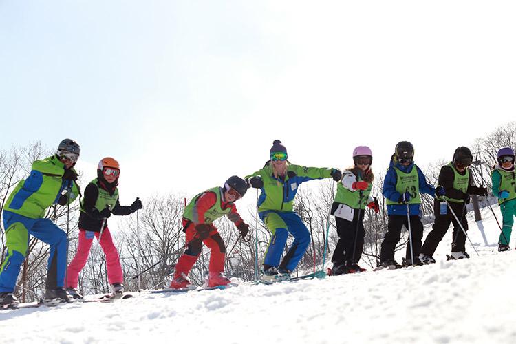 school program ski training in hakuba
