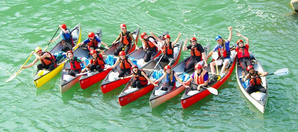 white water rafting japan - downriver canoe