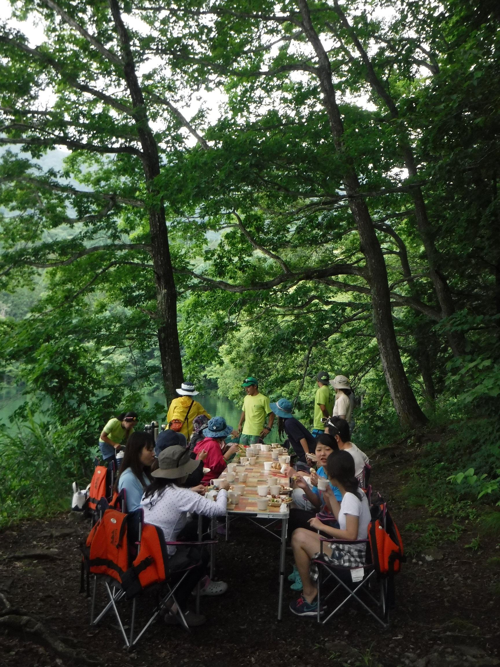 青木湖カヌーピクニック