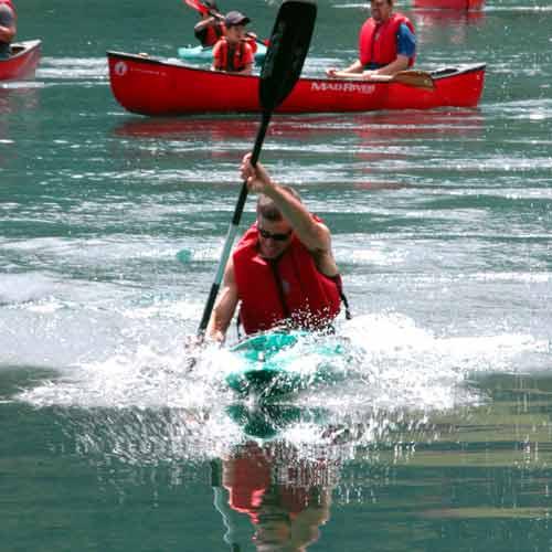 kayaking on lake aokiko
