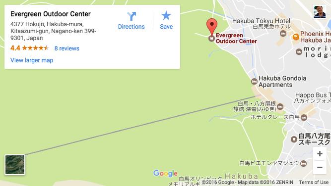 エヴァーグリーンアウトドアーセンターアクセス
