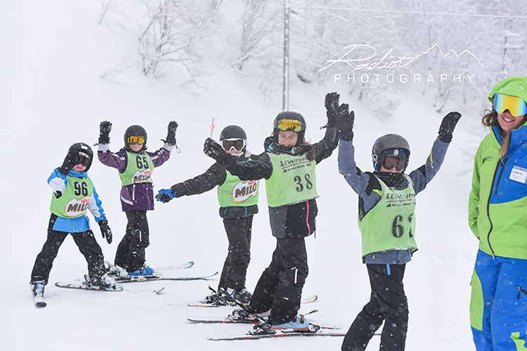 winter school camp ski lesson in hakuba